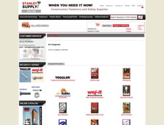 fasteners.stanleysupplyonline.com screenshot