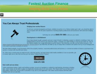 fastestauctionfinance.co.uk screenshot
