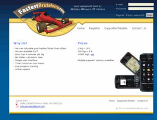 fastestbruteforce.com screenshot