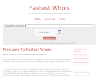 fastestwhois.com screenshot