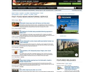 fastfood.einnews.com screenshot