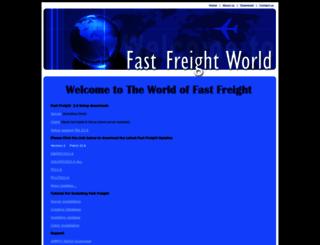 fastfreightworld.com screenshot
