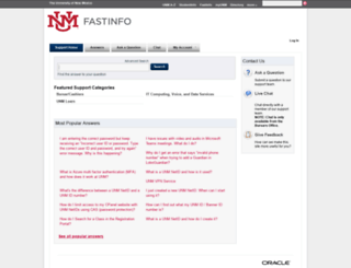 fastinfo.unm.edu screenshot