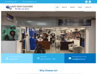 fastironcleaners.com screenshot