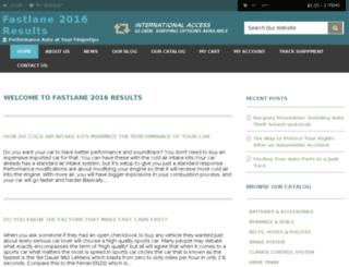 fastlane2016results.com screenshot