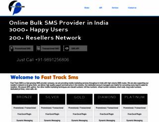 fasttracksms.com screenshot