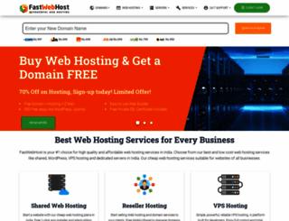 fastwebhost.in screenshot