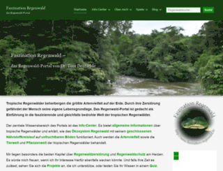faszination-regenwald.de screenshot