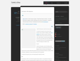 fatalin.wordpress.com screenshot