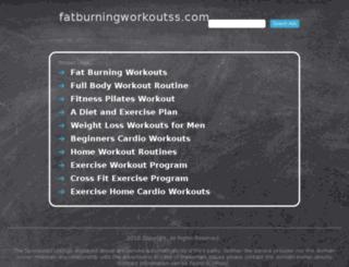 fatburningworkoutss.com screenshot