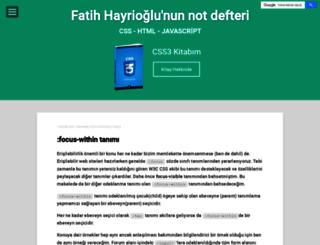 fatihhayrioglu.com screenshot