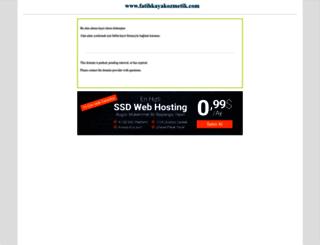 fatihkayakozmetik.com screenshot