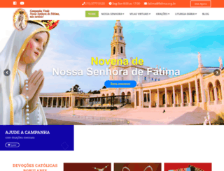 fatima.org.br screenshot