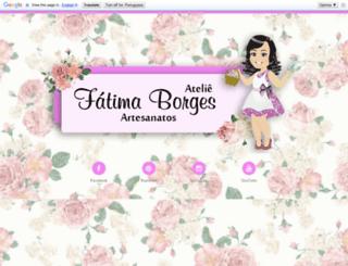 fatimaborgesartesanatos.blogspot.com.br screenshot