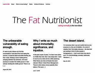 fatnutritionist.com screenshot