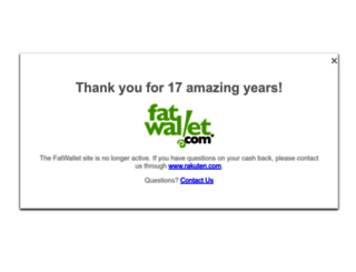 fatwallet.com screenshot