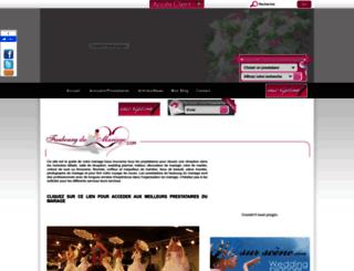 faubourg-du-mariage.com screenshot