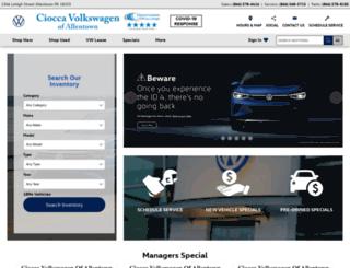 faulknercioccavw.com screenshot