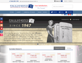 faulknersappliance.com screenshot