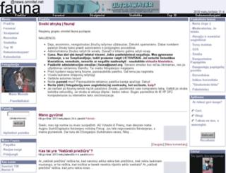 fauna.savel.org screenshot