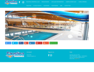 faustinasportingclub.it screenshot