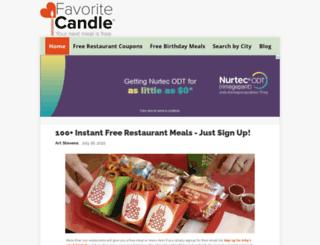favoritecandle.com screenshot