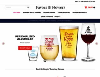 favorsandflowers.com screenshot