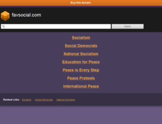 favsocial.com screenshot