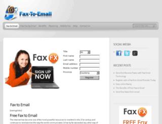 fax-to-email.za.org screenshot
