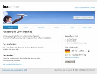 faxonline.de screenshot
