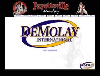 fayettevilledemolay.com screenshot