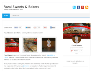 fazalsweets.com screenshot