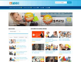 fazercursosonline.com screenshot