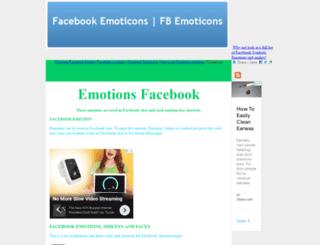 fb-emoticons.com screenshot