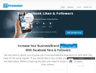 fb-promoter.com screenshot