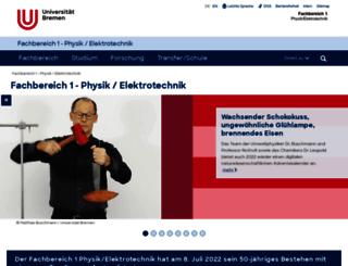 fb1.uni-bremen.de screenshot