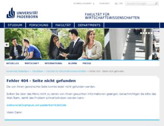 fb5.uni-paderborn.de screenshot