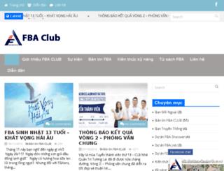 fbaclub.com screenshot