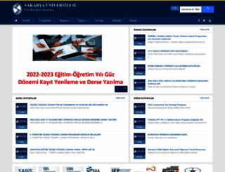 fbe.sakarya.edu.tr screenshot
