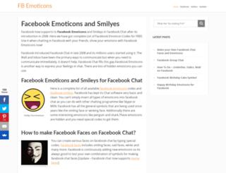 fbemoticons.com screenshot
