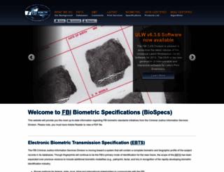 fbibiospecs.org screenshot