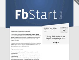fbstartdubai.splashthat.com screenshot
