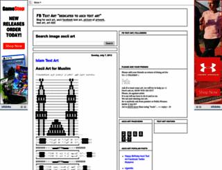 fbtextart.blogspot.com screenshot