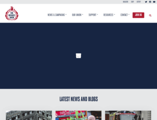 fbu.org.uk screenshot