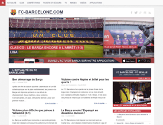 fc-barcelone.com screenshot