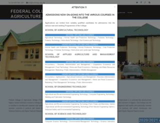 fcaishiagu.edu.ng screenshot