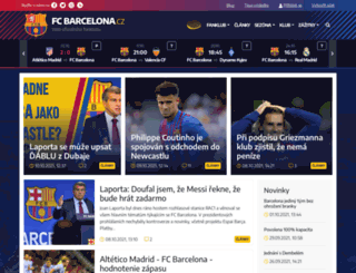 fcbarcelona.cz screenshot