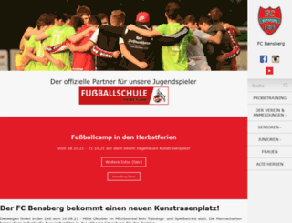 fcbensberg.de screenshot