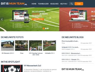 fclisse13.ditismijnteam.nl screenshot