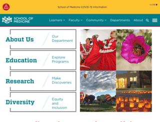 fcm.unm.edu screenshot